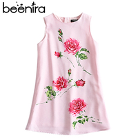 Beenira Girls Summer Dress Kids 2018 Brand European And American Style Sleeveless Pattern Printed Cute For