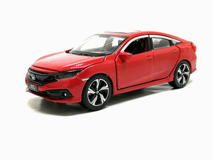 Image 3 - New 1/32 Scale HONDA 2019 CIVIC Simulation Toy Car Metal Diecast Model With Pull Back Sound Light Childrens Toys Birthday Gift