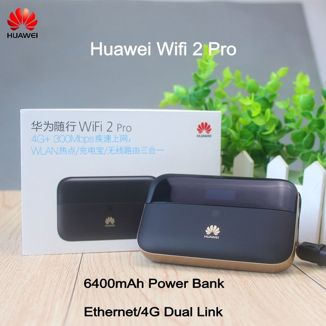 US $153 0 |Huawei CE0682 Wireless Pocket WiFi Router with Ethernet Port  6400mAh power bank NFC Huawei WiFi 2 Pro E5885-in 3G/4G Routers from  Computer