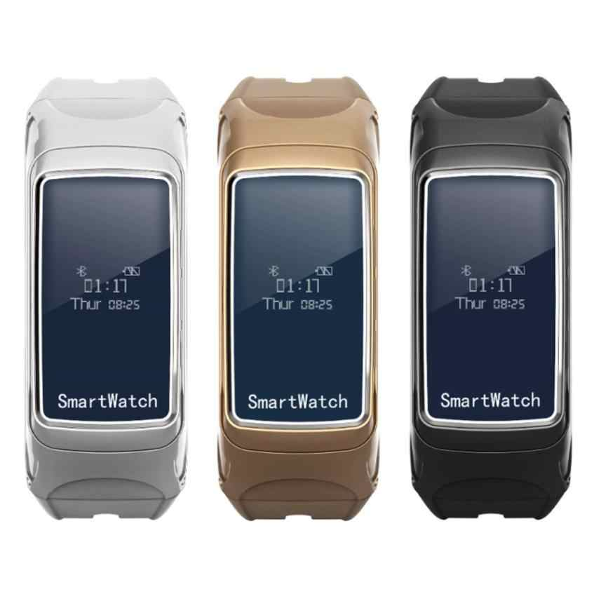 Baru Darah Oksigen Tekanan Monitor Detak Jantung Pedometer Smart Watch Gelang Bluetooth Earphone 18Mar29 DROP Kapal F