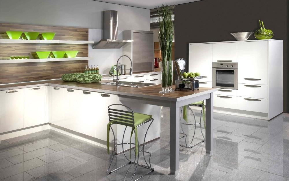 White Color Flat Design Kitchen Cabinet Set K004