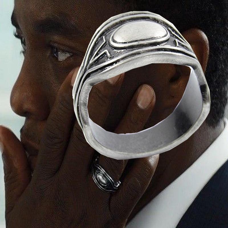 Black Panther Cosplay Rings Prince Of Wakanda T'Challa's Ring Halloween Superhero Cosplay Accessory Kid Holiday Birthday Gift