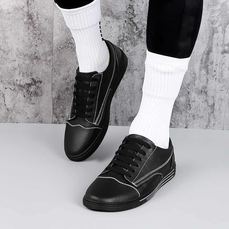 Mannen mode mannelijke casual schoenen outdoor zomer ademende mannen echt leer casual Sneakers fashion lace up flats schoenen L5