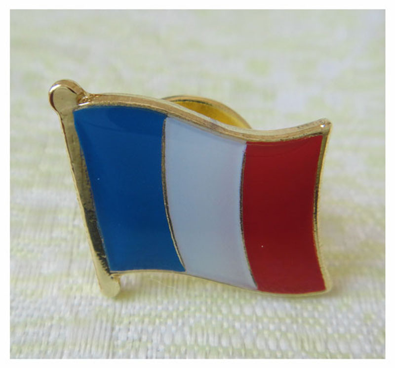Jexs France World Flag Enamel Lapel Pin 16mm Wide Attach 1pcs Butterfly Button Back Accept Customized MOQ 50pcs Fee Shipping