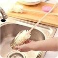 Copo utensílios de cozinha escova longa alça esponja escova de limpeza escova de lavar copo escova criativo Simples e prático escova de limpeza copo chaleira
