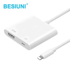 BESIUNI Lighting AV HDMI/HDTV TV Цифровой Кабель-адаптер для iphone 5 5S 6 6s 7 7 plus