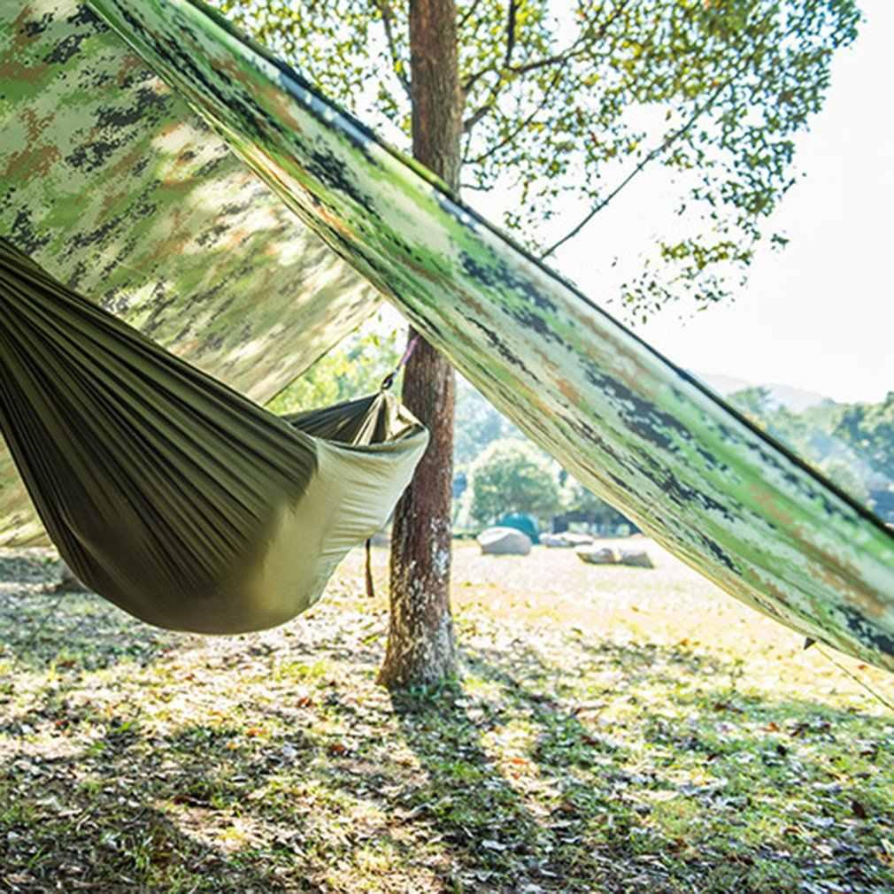 Водонепроницаемый навес для защиты от солнца тент Тарп Открытый Отдых гамак дождь летать защищающая от УФ-излучения Пляжная палатка