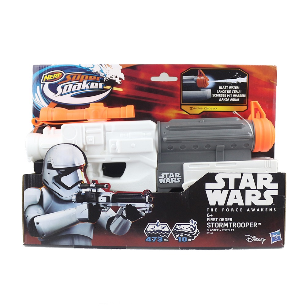 free shipping nerf star wars the force awakens fisrt order stormtrooper blaster pistolet b4441. Black Bedroom Furniture Sets. Home Design Ideas