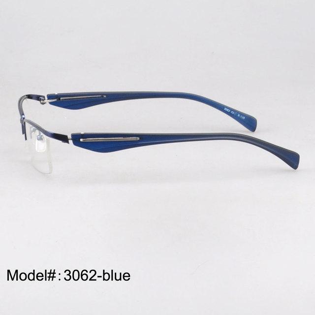 3062 Nuevo diseño unisex Medio Borde de Metal Gafas Marco Óptico miopía gafas anteojos Recetados