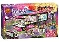 Bela Amigos 10407 Pop Star Tour Bus Juguetes de los Ladrillos Bloques juego de la muchacha del regalo casa compatible con lepin lepin sluban decool 41106