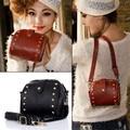2017 High quality Brand Vintage Women Leather Handbags Women's Zipper Shoulder Messenger Bags Black Brown Bolsa Feminina