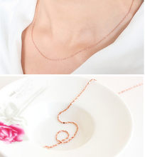Stylish Jewelry Women Thin Chain Necklace Lady's Pretty 1pc Italy Sexy Starry Rose Chain Necklace Wedding Necklace Pendant Gift(China)