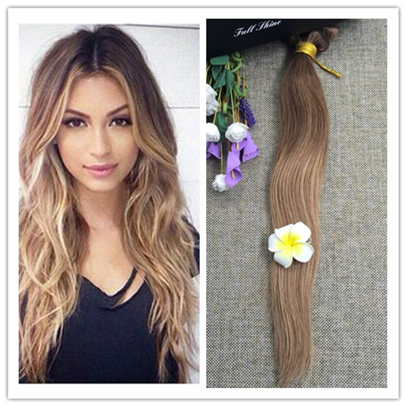 Full Shine 2016 New Fashion Brazilian Human Hair Sew in Weave Color #4/27/10 Straight 100g Hair Bundles Cabelo Humano Online