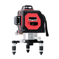 3D Omnidirectional Laser Level Instrument 12 Line Infrared Level Instrument Red Laser Self Leveling 360Vertical Horizontal