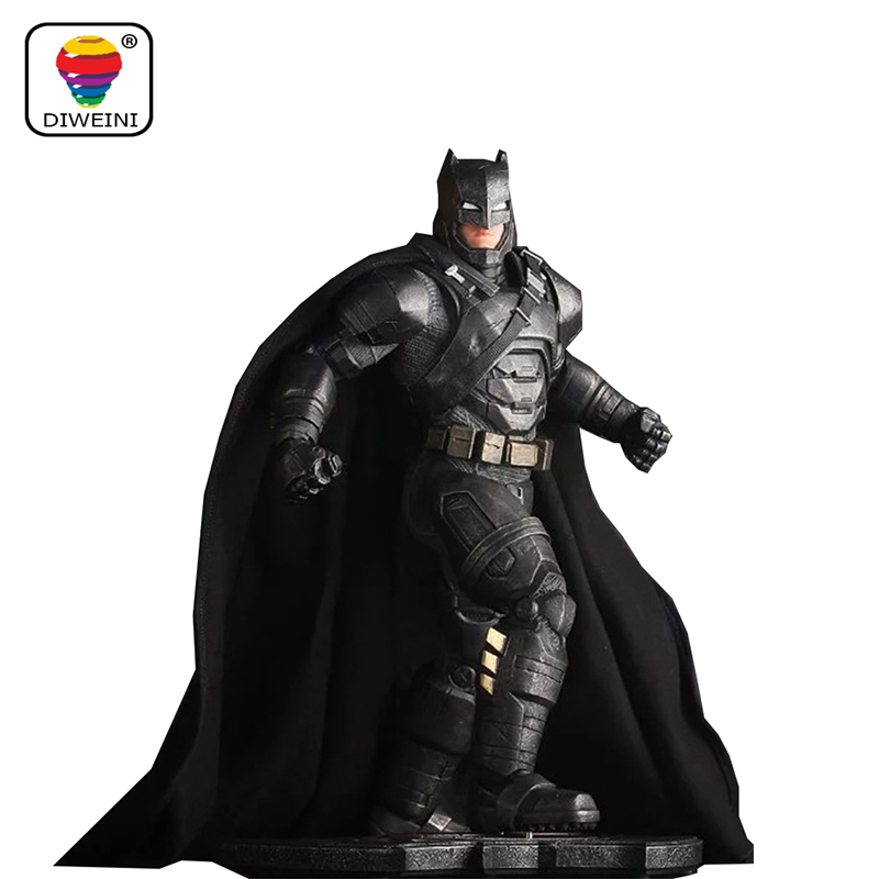 DIWEINI 1pcs Superman V Batman Heavy armor Justice League Gray CRAZY TOY Dark Knight Marvel Rises Avengers Super Hero PVC 30cm greg pak batman superman volume 1 cross world