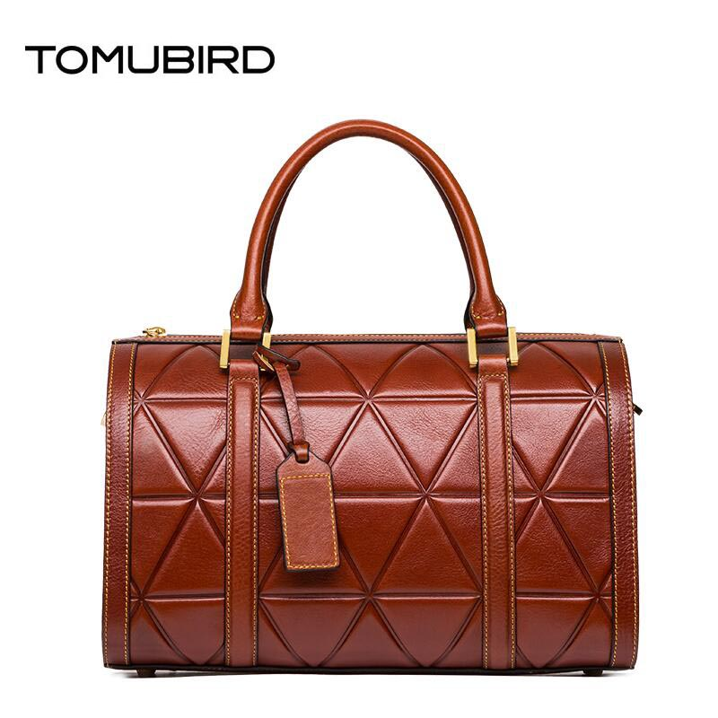 Famous brand top quality Cow Leather women bag  Fashion Shoulder Messenger Bag Fashion checked handbag Pandora bag