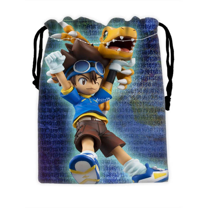 Custom Digimon Drawstring Bags For Mobile Phone Ablet PCjewelry Gift Packaging Bags Christmas Gift Bags