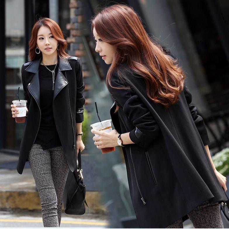 2013 Coreana Y Largas Color Mujeres Por Secciones De Versión Nuevo Mayor Al Con Las Invierno Abrigo Lana Delgadas r0r71P