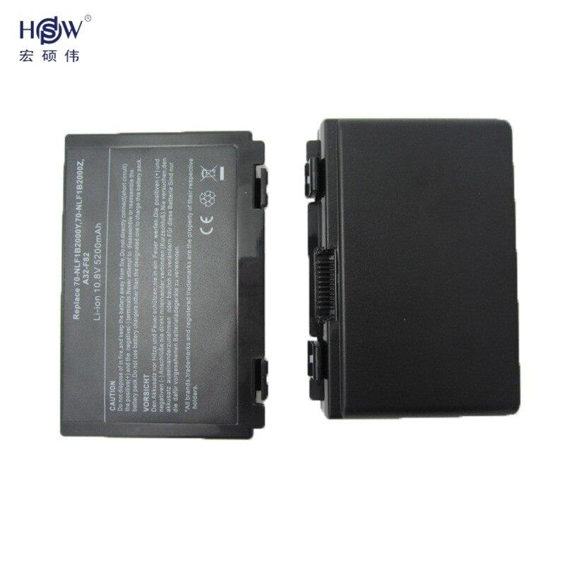 HSW 6cells battery for Asus k50ij k50ab a32 f82 k50id k42j k40in k50in F52 F82 K40 K50 K40E K51 K60 K70 A32-F52 A32-F82 bateria цена