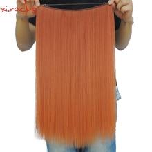 Xi.rocks 50g 20inch Halo Elastic Cuerda Extensión del pelo sintético alrededor de la cabeza o recta cosen en tejido 25 colores doble trama