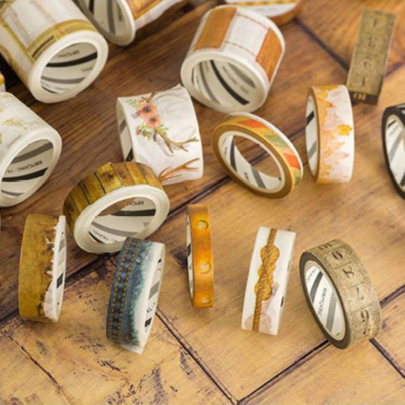 0.8-5 Cm*5 M-7m Vintage Borders Series Washi Tape Children Diy Diary Decoration Masking Tape Stationery Sticker Scrapbook Tools