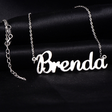 Stainless steel Personalized Name Necklaces Women Necklaces & Pendants Name Custom Nameplate Necklace Jewelry Gift Dropshipping