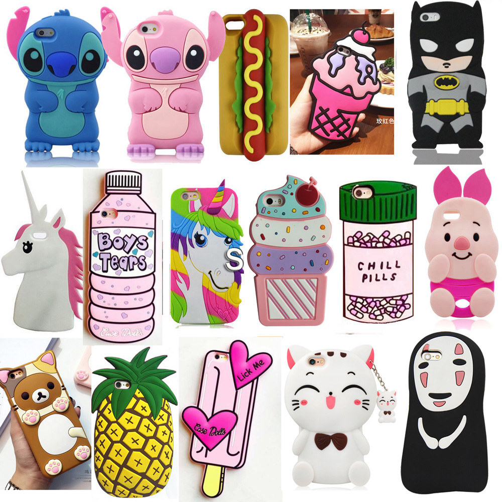 3D Cartoon Soft Silicone Mobile Back Cover Skin Shell For Apple IPhone 5 5S 5C SE 6 6S 6 Plus 7 8 Plus X XS XR XS Max Phone Case