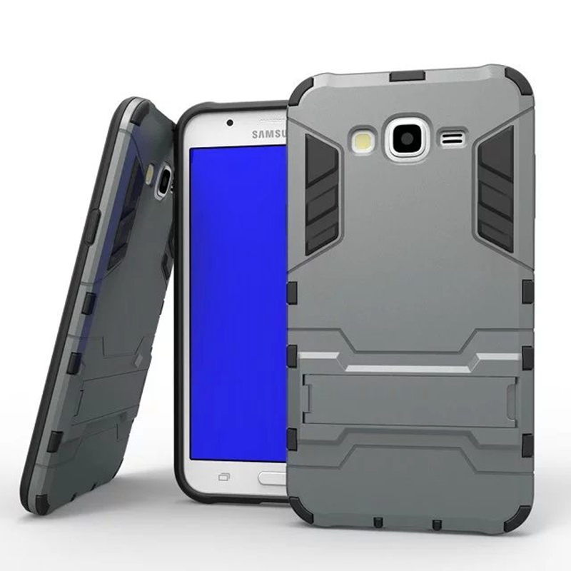 brand new a4933 26f93 US $3.99 33% OFF|Coque For Samsung Galaxy J5 2015 J500 J500f J500h With  Stand Silm Hybrid Duty Armor Shield Case TPU + PC Back Cover Protective-in  ...
