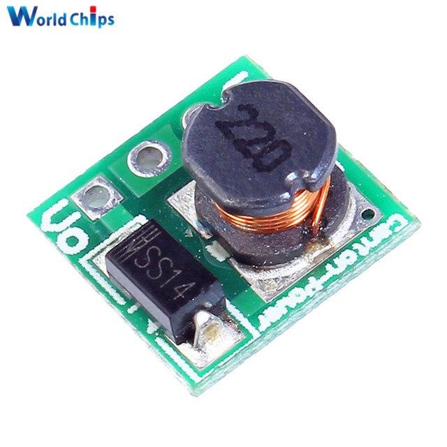 5 ピース 1.8 ボルト 2.5 ボルト 3 ボルト 3.3 ボルト 3.7 ボルトに 5 ボルトステップアップ電源電圧昇圧コンバータボードモジュールレギュレータ 18650 リチウムオン電池