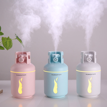 300ml Gas Tank Air Humidifier Fine Mist USB Aroma Essential Oil Diffuser Romantic Light Lamp For Office Bedroom Humidificador