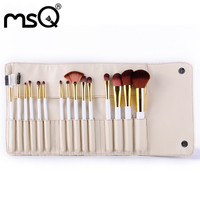 MSQ 15PCS Makeup Brush Set Tools Professional Eye Shadow Foundation Eyebrow Make Up Toiletry Kit Nylon