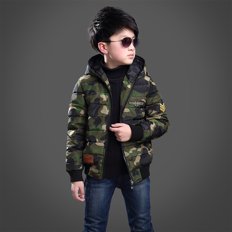 new children 39 s winter jackets boys thickness camoufalge. Black Bedroom Furniture Sets. Home Design Ideas