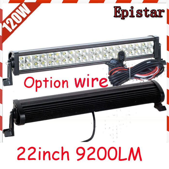 Free DHL/UPS/FEDEX ship! 22 120W,9200LM,10~30V,6500K,LED working bar;led offroad bar,Option wire harness,SUV,LED bar light брелок 500 dhl ups