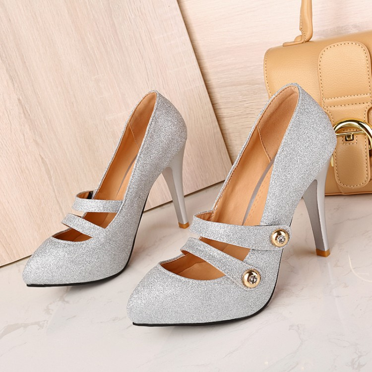 Big size 34-45 Shoes Woman 2017 New Arrival Wedding ladies high heel shoes Fashion Sweet Dress pointed toe Women  Pumps T186 pointed toe women low heel work shoes girls sweet strappy dress shoes ladies heel shoes femal comfortable wedding shoes h264