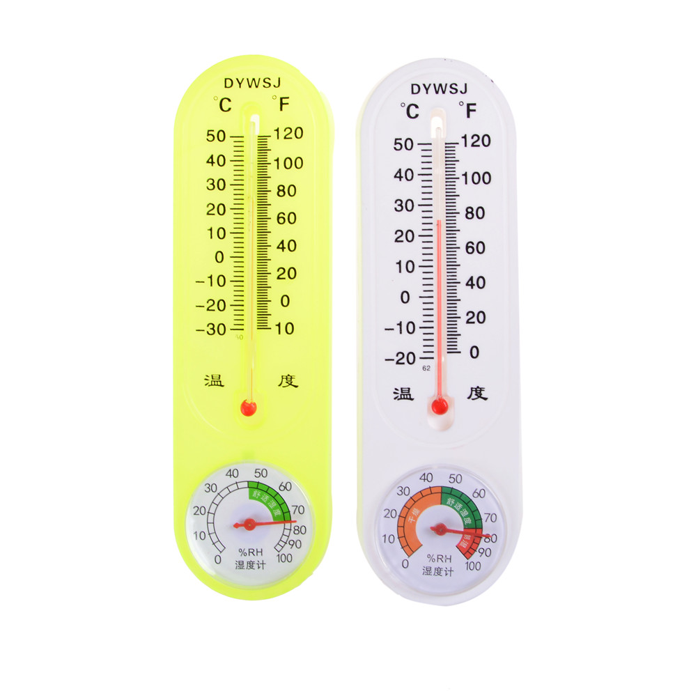 2018 Top Quality White Green Analog Household Thermometer Hygrometer ...
