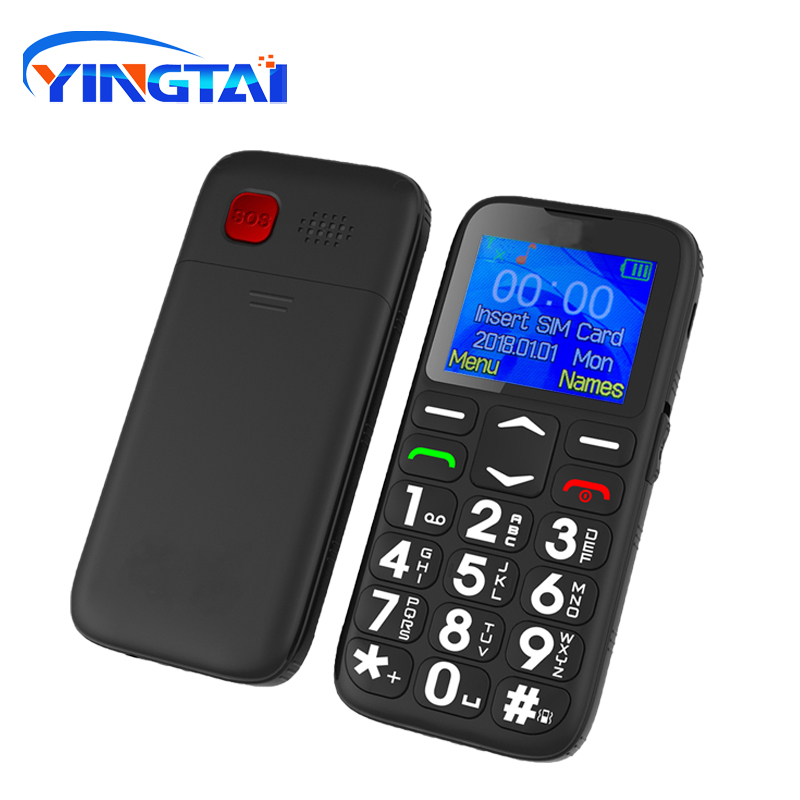 Image 5 - 2020 YINGTAIT19 Senior Feature Mobile Phone for Old man NoCamera  GSM Big Push Button SOS FM Elder Cell Phone Bar MTK with  CradleCellphones
