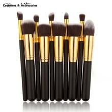 Professional 10Pcs Makeup Brush Sets Tools Cosmetic Brush Foundation Eyeshadow Eyeliner Lip Powder Brush Pinceau Maquillage
