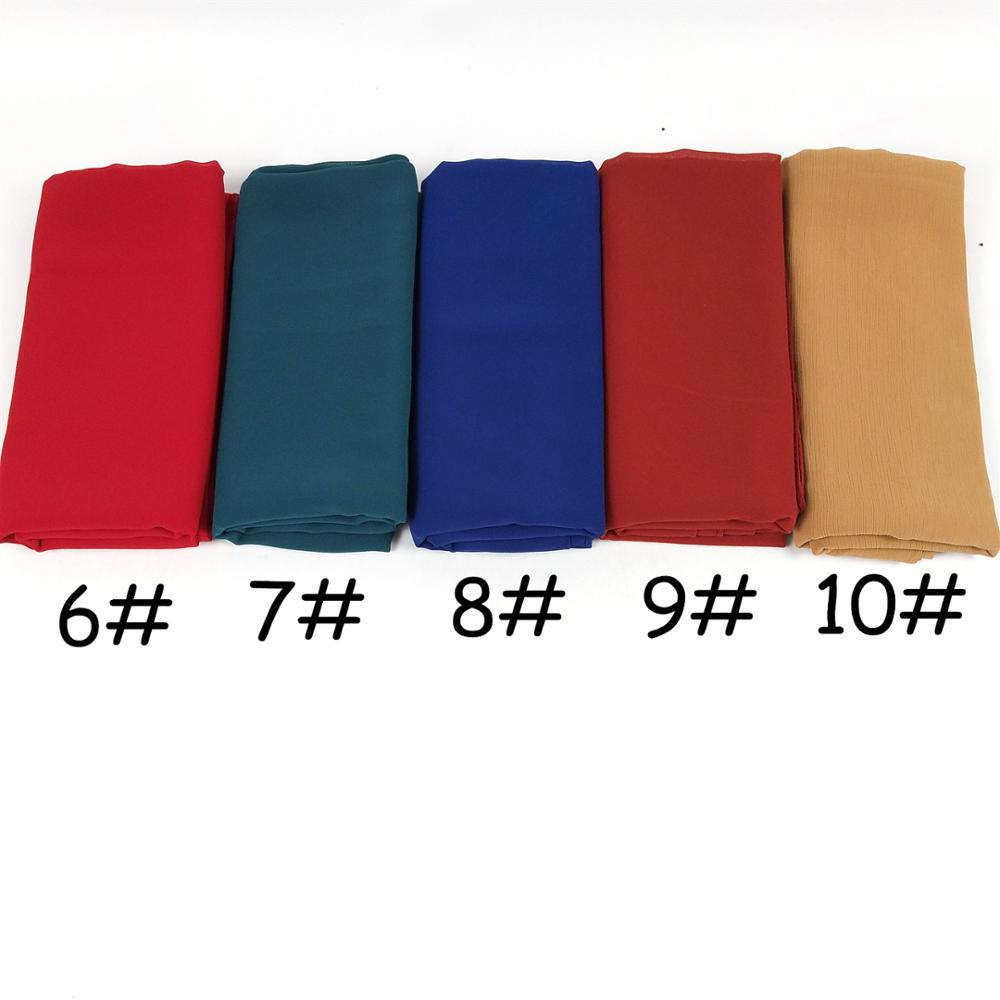 Image 3 - k9 1  Big size women High quality bubble chiffon printe solid color shawls hijab winter muslim  scarves/scarf 180*85cm-in Women's Scarves from Apparel Accessories