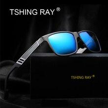 TSHING RAY Aluminum Magnesium Men's Polarized Driving Sunglasses Men Fashion Square Mirror coating Sun Glasses For Male Driver