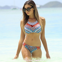 2017 New Bikini Set Hot Spring Swimsuit European And American Style Multi Rope Printing Color Sexy