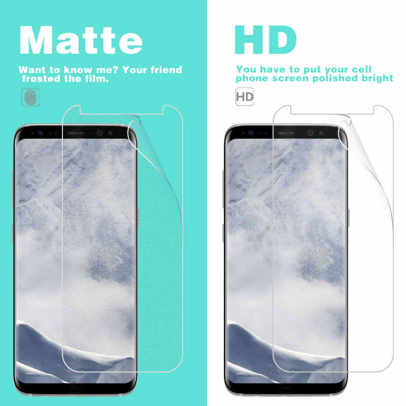 Screen Protector Anti-Fingerprint Matte Film For Samsung Galaxy S8 Front HD Clear Glossy Film Cover With Cleaning Tools