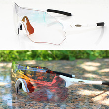 Profession Photochromic Red Riding Mirror Mountain Bike Goggles Cycling Eyewear Bicycle Sunglasses Glasses