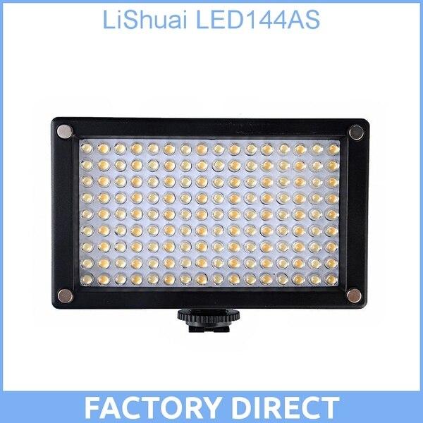 все цены на LiShuai LED144AS 144 ASZ LED Video Lighting KIT Bi-Color 144AS On-Camera Light Camcorder DSLR онлайн