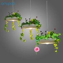 Artpad Nordic Babylon Plant Pendant Light AC90-260v E27 LED Living Room Garden Pendant Lamp for Dining Room Balcony Lighting