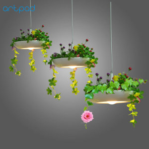Image 5 - Artpad Nordic Babylon Plant Pendant Light AC90 260v E27 LED Living Room Garden Pendant Lamp for Dining Room Balcony Lighting
