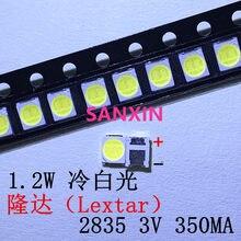 Lextar 100 2835 3528 1210 v 2w led, smd original para reparo luz de fundo para tv lcd branco frio luz de fundo led