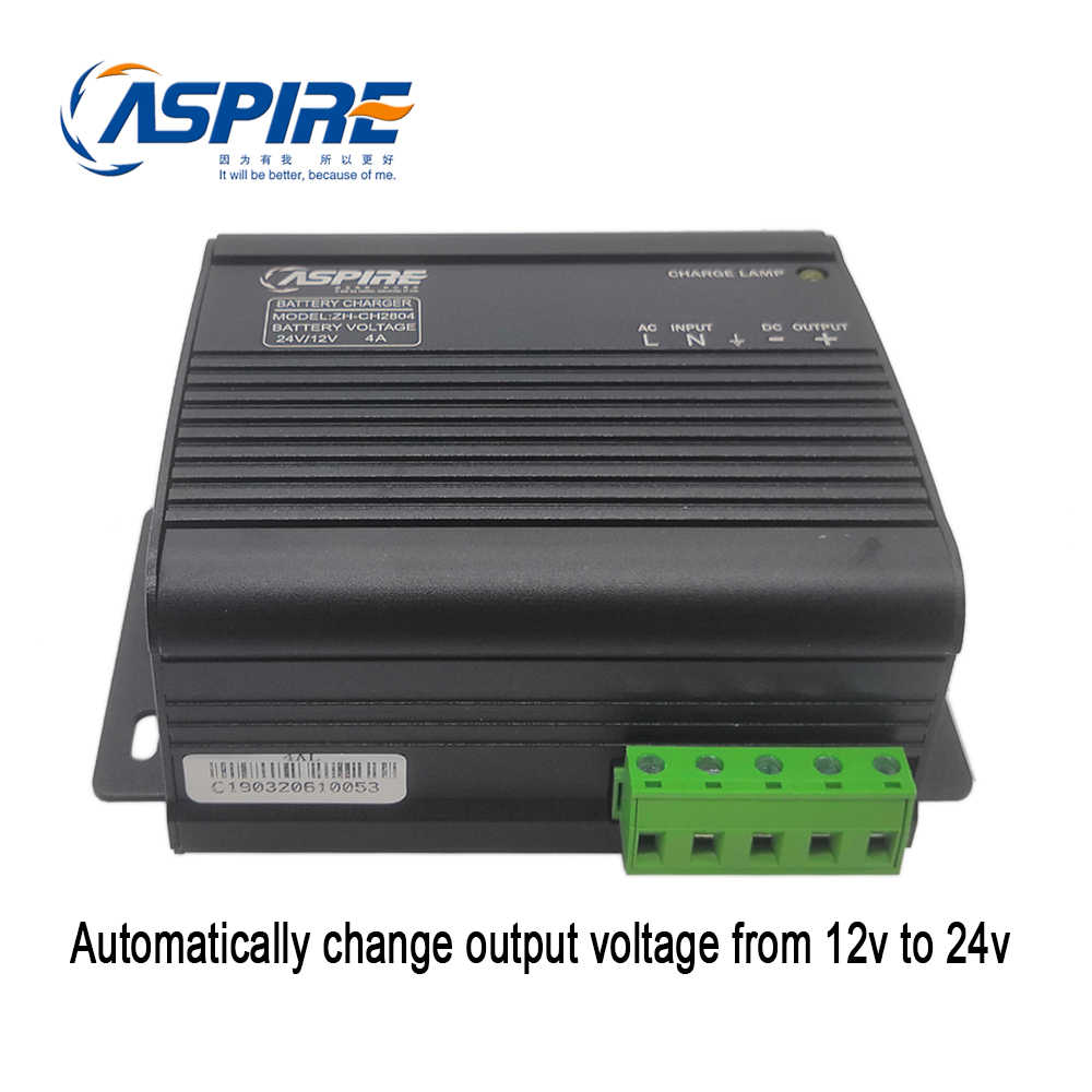 Aspire Dynamo Genset Intelligent Automatic Battery Charger 12v 24v Zh Ch2804a 3a 4a For Diesel Generator