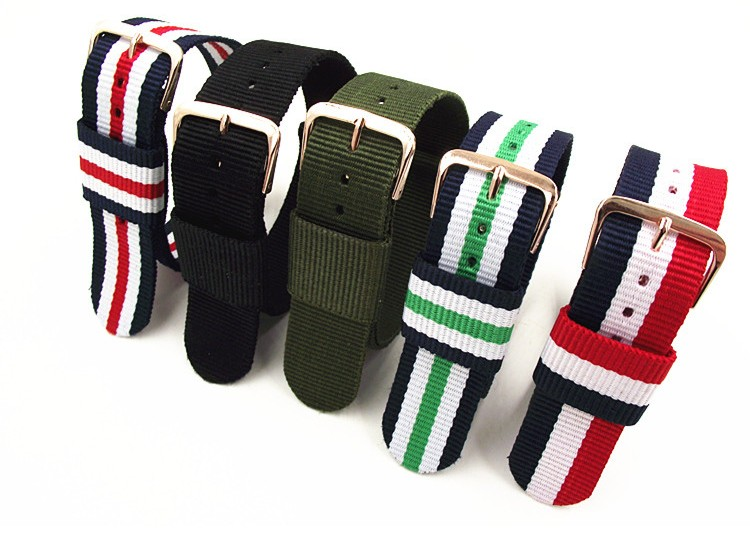 1PCS High quality 16MM 18MM 20MM 22MM nato strap Rose gold buckle nato straps Watch band watch strap 5 colors high quality leather nylon nato watchbands 18mm 20mm 22mm 24mm 7 colours watch sports watch band straps accessories 1pcs tool