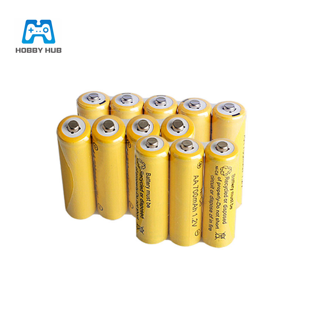 1/2/4/8/10/16x <font><b>1.2v</b></font> 700mah NI-CD <font><b>AA</b></font> <font><b>Battery</b></font> 700 mAh Rechargeable <font><b>nicd</b></font> <font><b>Battery</b></font> <font><b>AA</b></font> For Electric Toy remote Control car RC ues image