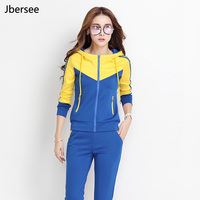 Women Hoodie Two Piece Set Tracksuit Women Crop Top And Elastic Waist Long Pants 2 Piece